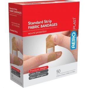 AeroPlast Premium Fabric Bandages - Standard Strip x 50