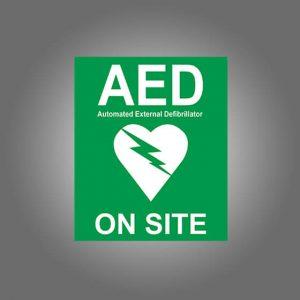 AeroSupplies AED On Site Labels (Self-Stick Vinyl)